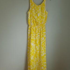 Ann Taylor Sunshine Yellow Sleevless Maxi Dress
